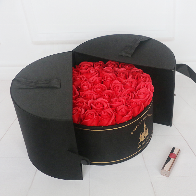 Custom made luxury opening flower box for valentines,flower packaging round box,rose <strong>boxes</strong>