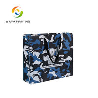 China factory direct deal vogue camouflage pattern printed military paper bag for navy