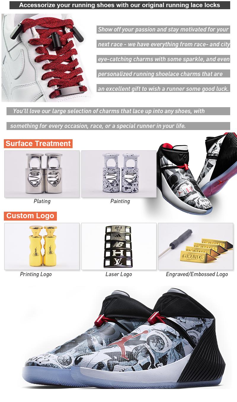 iRun Amazon Metal For Jordan Shoe Lace