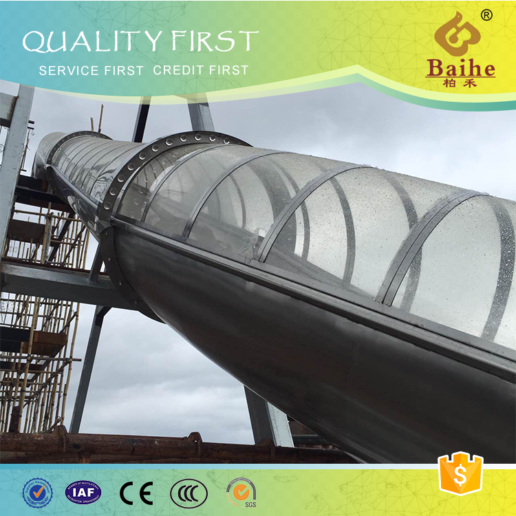 Baihe stainless steel spiral tube slides for playground
