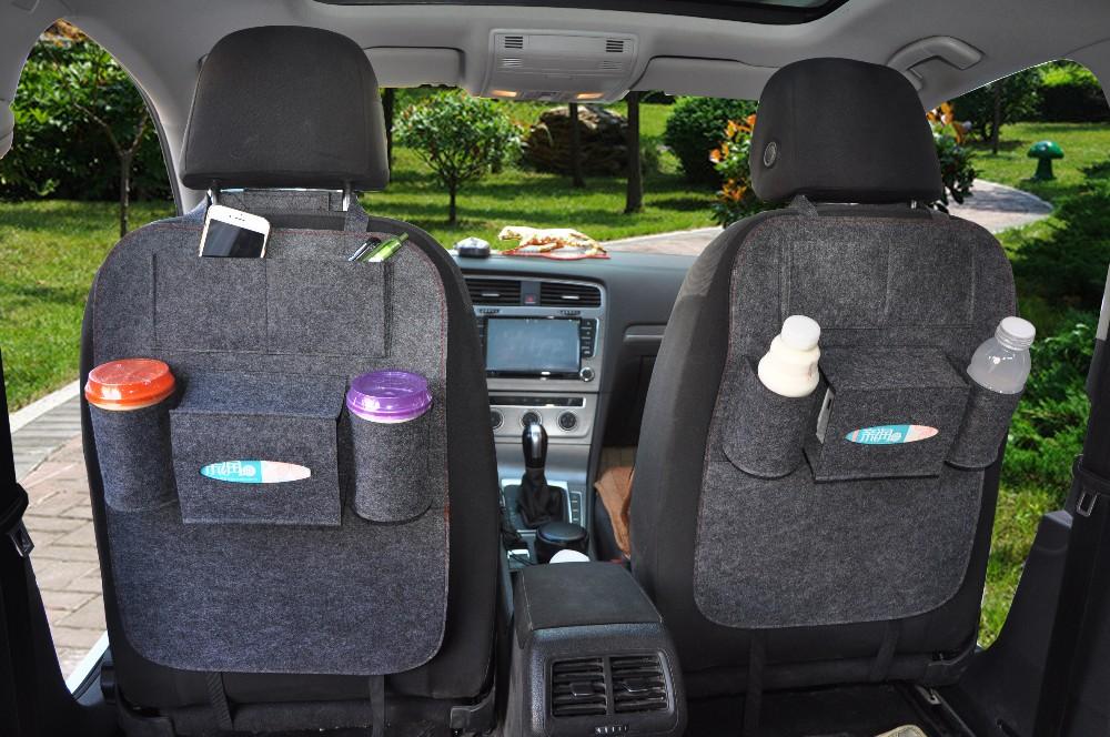 New Fashion Style Seat Back Felt Hanging Storage Bag Carriage Car Front Organizer