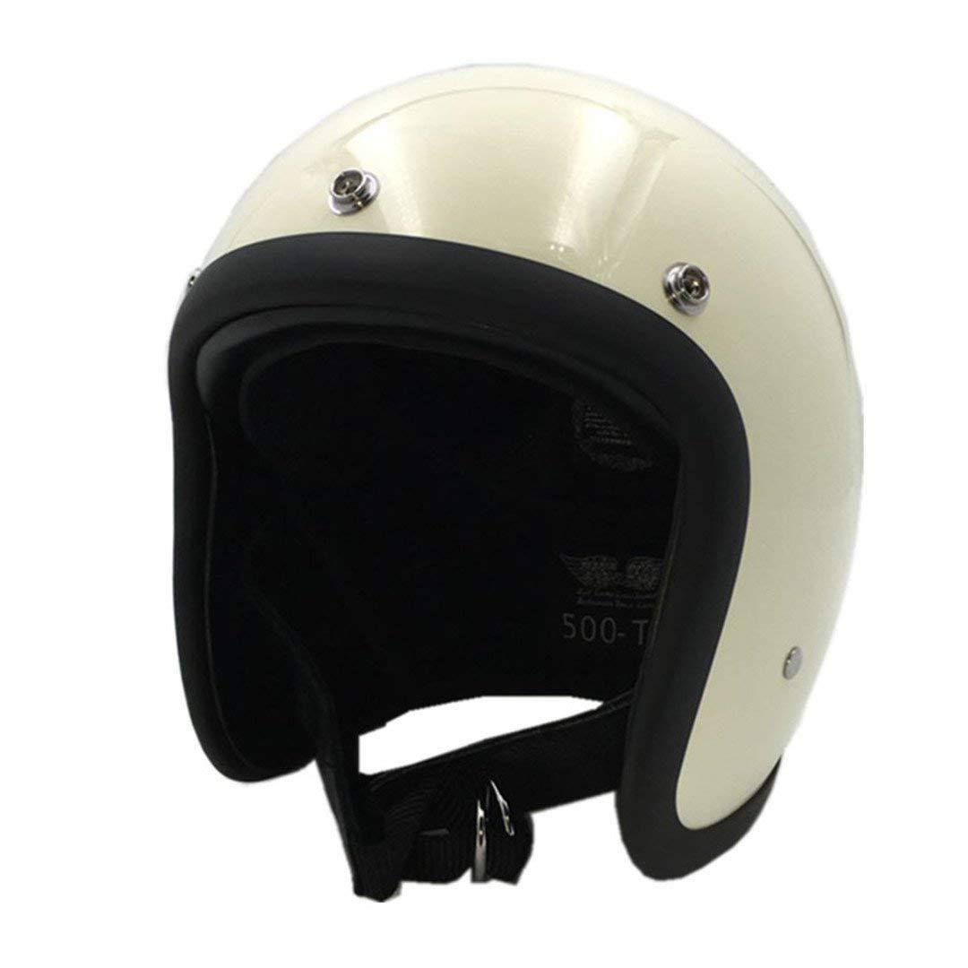 ebcd5d22f Get Quotations · TOUKUI Face Motorcycle Helmet Vintage Motorcycle Helmet  Chopper Retro Helmet Bell