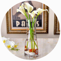 Hot Sale Tall Slim Clear Cylinder Glass Vase Best Price