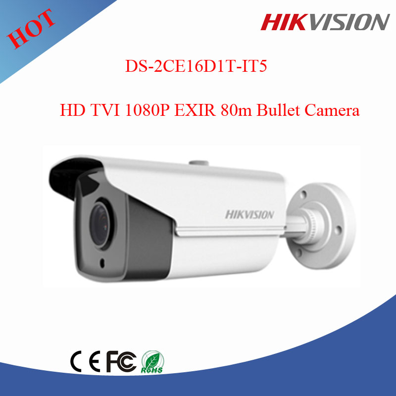 Original English firmware Hikvision 2mp hd tvi cctv camera EXIR 80m