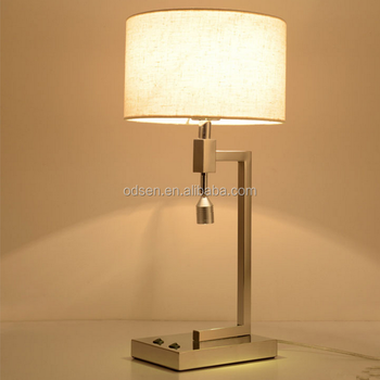 Led Bedside Edison Writing Table Lamp Power Outlet Hotel Table ...