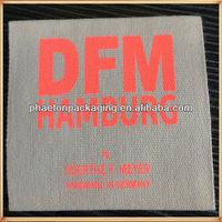 natural off white screen printing label brand printed label logo printing