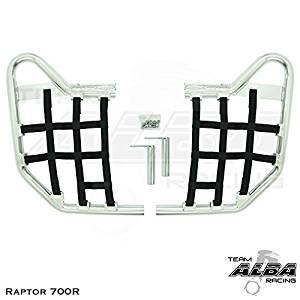 Tusk Comp Series Nerf Bars Silver//Black Webbing Fits Yamaha RAPTOR 700 2006–2017