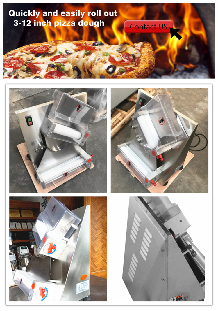 Toko Roti Pizza Mesin Penggulung Adonan Listrik Kecil Penggulung Adonan Roti Pita Adonan Roller untuk Bakeri