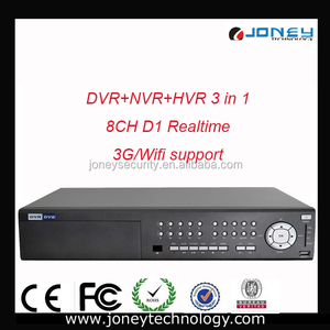 8CH D1 realtime HVR Board NVR/HVR/DVR 3 in 1 and 3G Wifi support