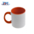 High quality sublimation white mug with color inside sublimation printed mugs