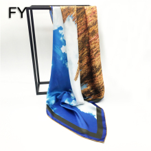 Factory direct custom design digital print silk scarf