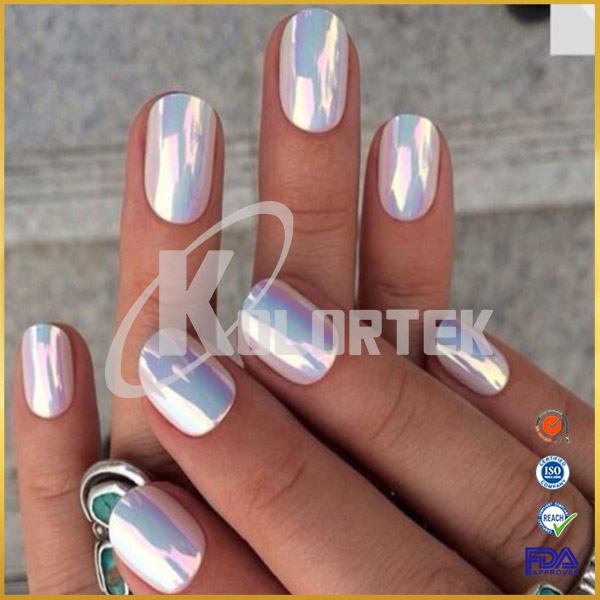 Chrome Effect Fairy Dust Unicorn Powder For Nail Paint Aurora Nails