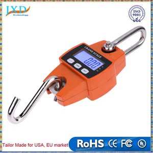 300kg/600lb Mini Industrial Crane Scale Portable LCD Digital Electronic Hook Hanging Digital Scale Weight