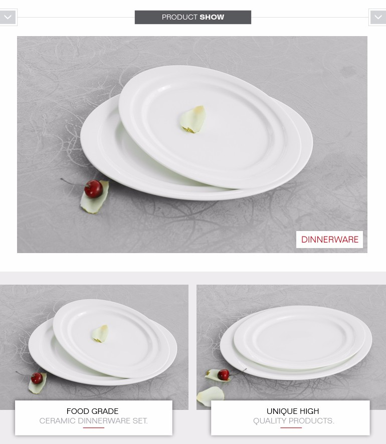 China porcelain 12  14 oval plate spanish style dinnerware set with european style  sc 1 st  Alibaba & China Porcelain 12