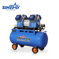 Advanced new design mobile medical bus airbrush spray paint ultra silent piston oil free air compressor