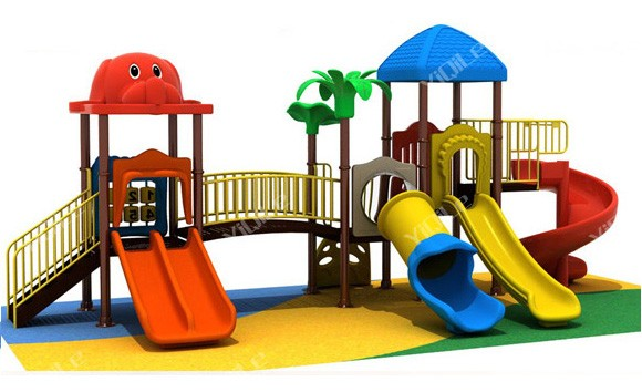 Special Design Outdoor Cat Playground Lovely Kids Playhouse Plastic High Quality Parts Slide