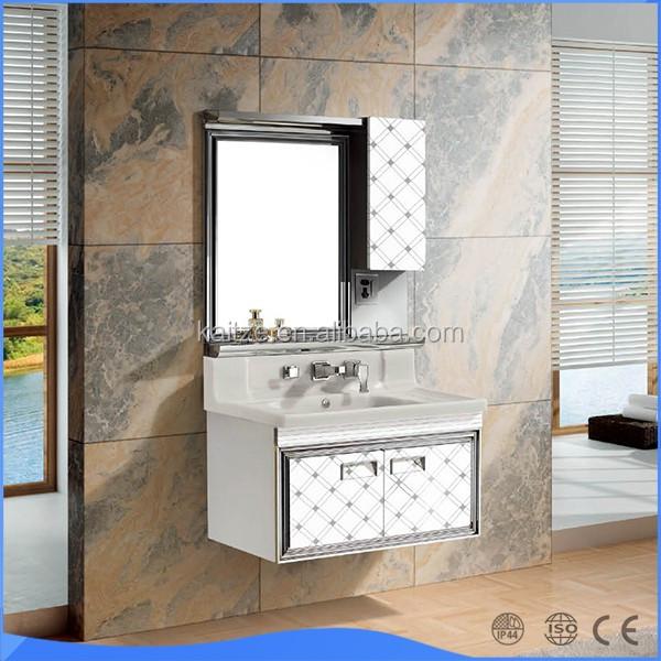 Bathroom Hand Wash Basin Cabinet With Led Mirror