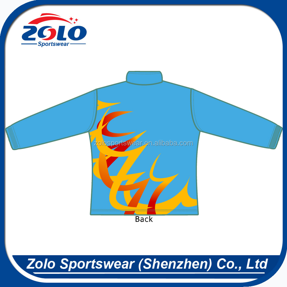 Custom High quality fully Zipper windproof dye sublimation jackets