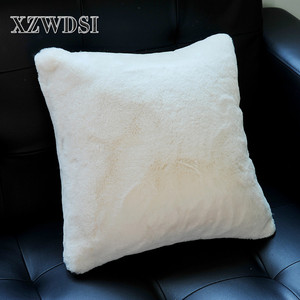 CX-D-14 Wholesale White Two Size Sofa Faux Fur Pillow For Home