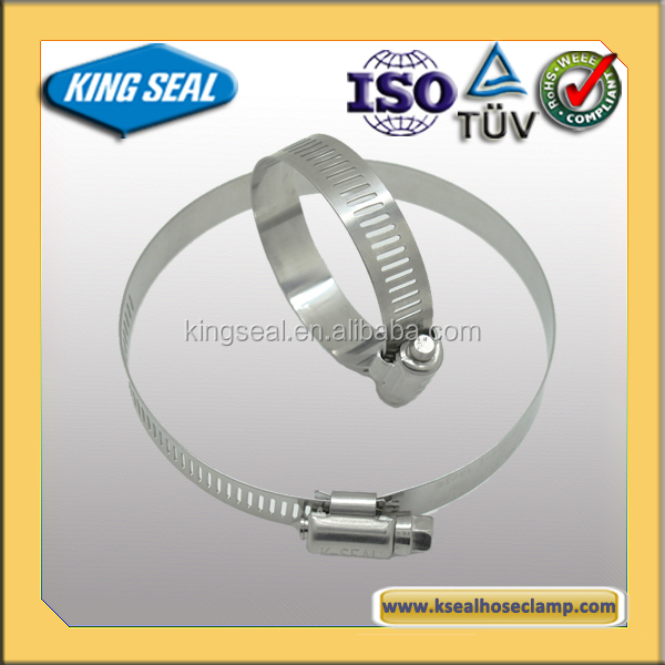 Stainless Steel American Type Worm Drive metal clamp rings