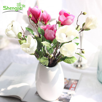 Best quality home decorative magnolia artificial silk flower orchids best quality home decorative magnolia artificial silk flower orchids stem mightylinksfo Choice Image