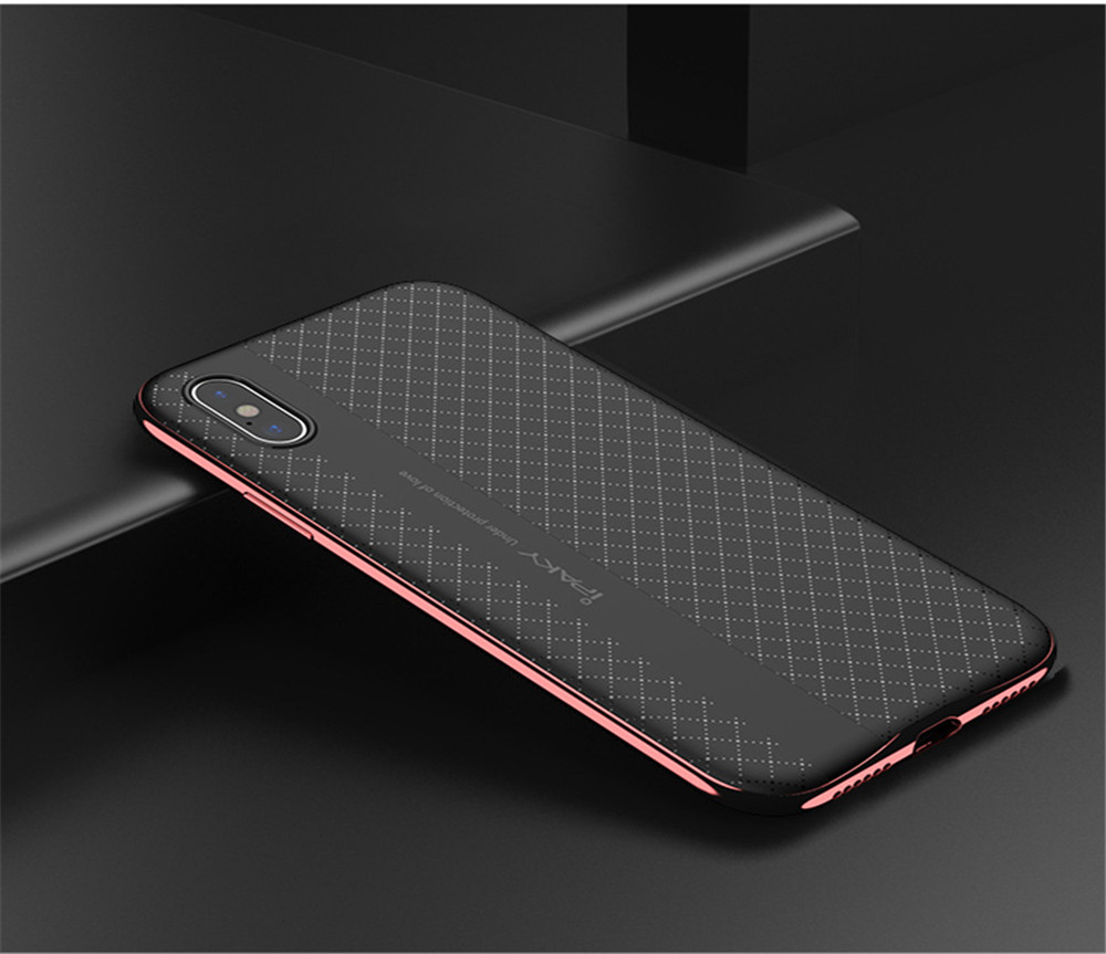 Wholesale iPaky Original Double Protective PC+TPU Armor Back Cover Phone Case for iPhone X