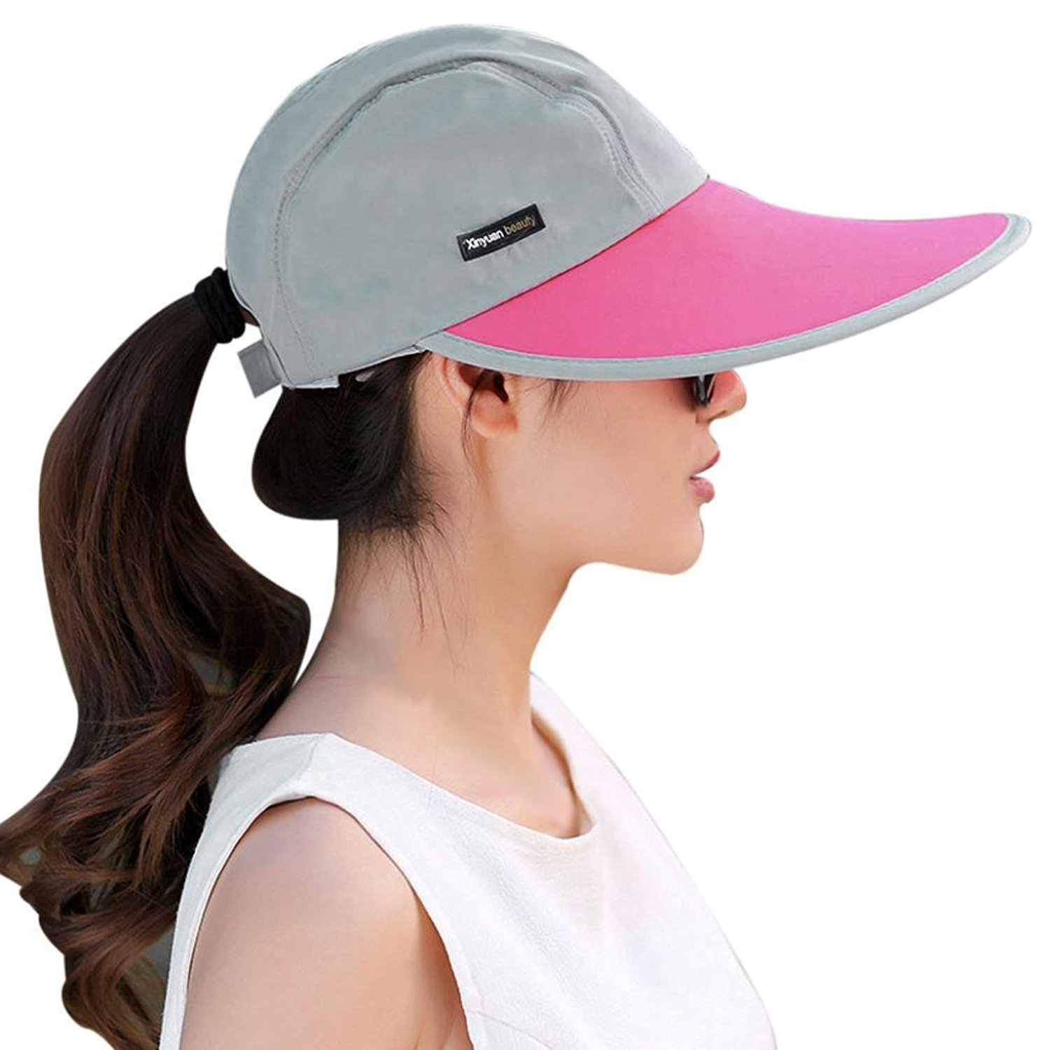 Get Quotations · OVERMAL Women Summer Sun Hats Sun Visor Hat Sun Hats With  Big Heads Beach Hat ea80c58d580