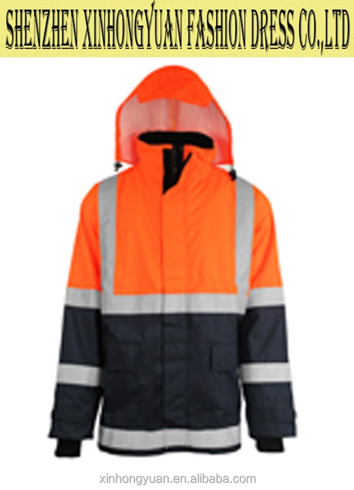 Protective paramedic ambulance responce jacket, reflective hi vi jacket, hooded pattern for rainny day outdoor workwear