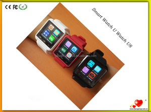 Bluetooth Smartwatch U8 Smart Watch U watch for iPhone 6/puls/5S Samsung S4/Note 3 HTC Android Smartphones Android IOS Wear