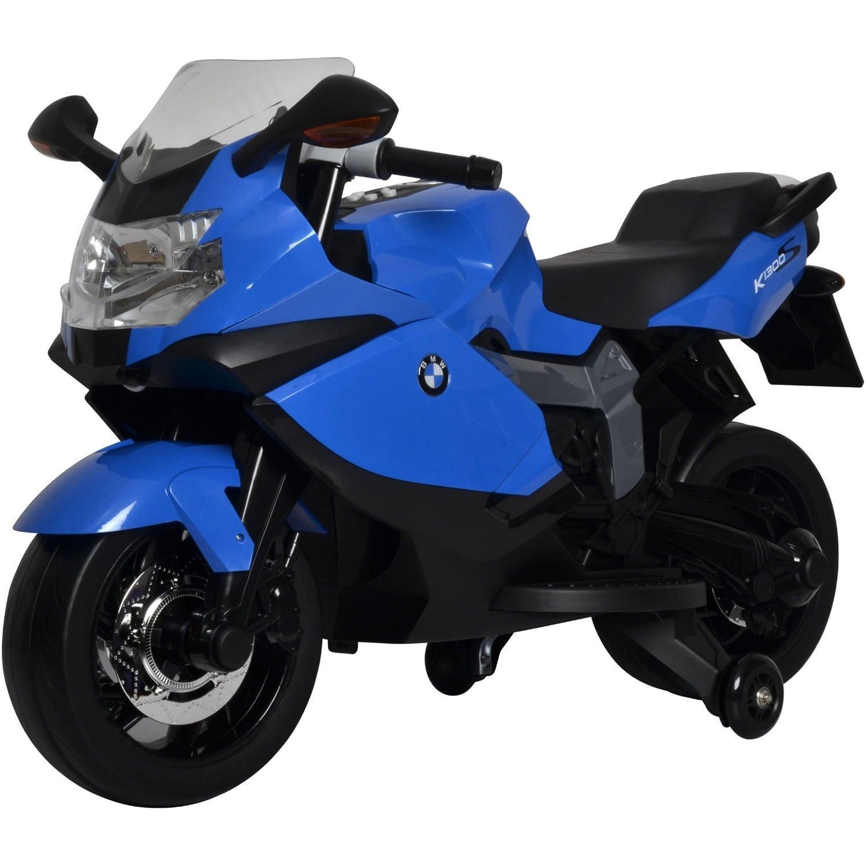 Licensed BMW Motorcycle 12V Kids Battery Powered Ride On Car - Blue