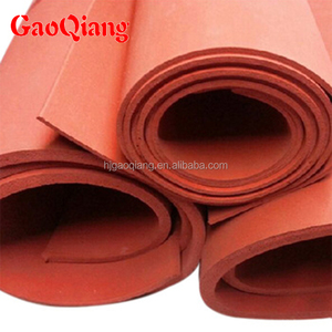 Custom low hardness red color silicone sponge foam rubber sheet