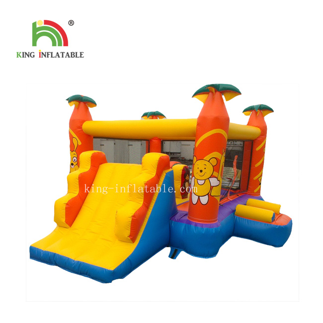 Outdoor And Indoor Jungle Inflatable Jumping Castle Inflatable slide