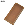 Vintage oil-tanned leather trifold wallet money clip wholesale