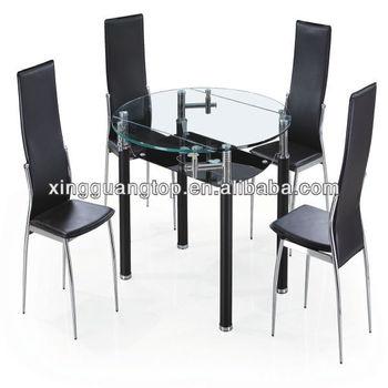 Mesa de comedor moderno round y extensible mesa mesa con for Comedor 4 sillas moderno