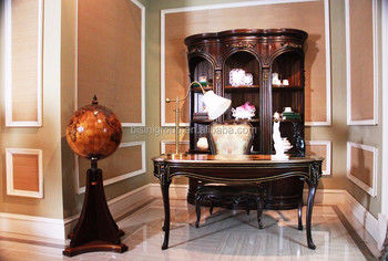 New Arrival French Imperial Style Wood Carving Office Desk With Armchair  And Bookcase BF12 03274b