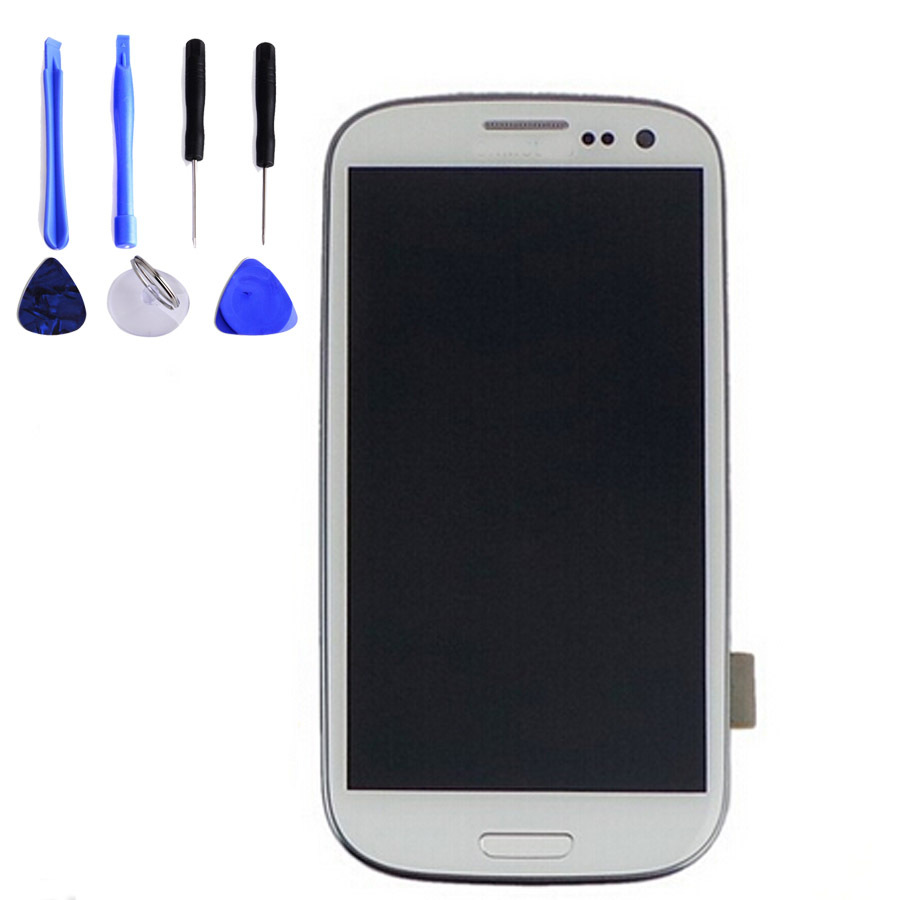 Original White/Blue LCD For Samsung Galaxy S3 mini GT-i8190 i8190 LCD Display touch Screen assembly Free Shipping+Open Tools
