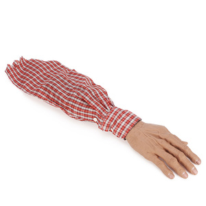 Fake Crawling Human Arm Hands Bloody Dead Body Parts,Make fear sounds,Magnetic control,Haunted House Halloween Decorations