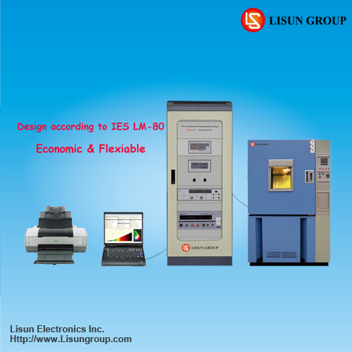 LEDLM-80PL LED Lumen Aging test equipment with temperature chamber and ac power supply to meet IESNA-LM-80 LM-82 TM-12