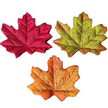F-1472 Cheap Wedding Props Party Decor 8CM Autumn Maple Leaf 200PCS Silk Latex Maple Leaves