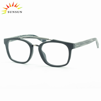 60e94140f0d spectacle frames 2018 eye glasses Latest eyewear trends glasses acetate  wood imitation glasses