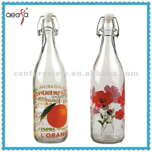 Round Shaped For Water Juice Glass Bottle 500ml