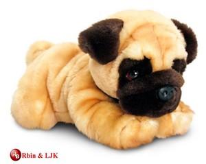 custom promotional lovely dog pug stuffed plush toy