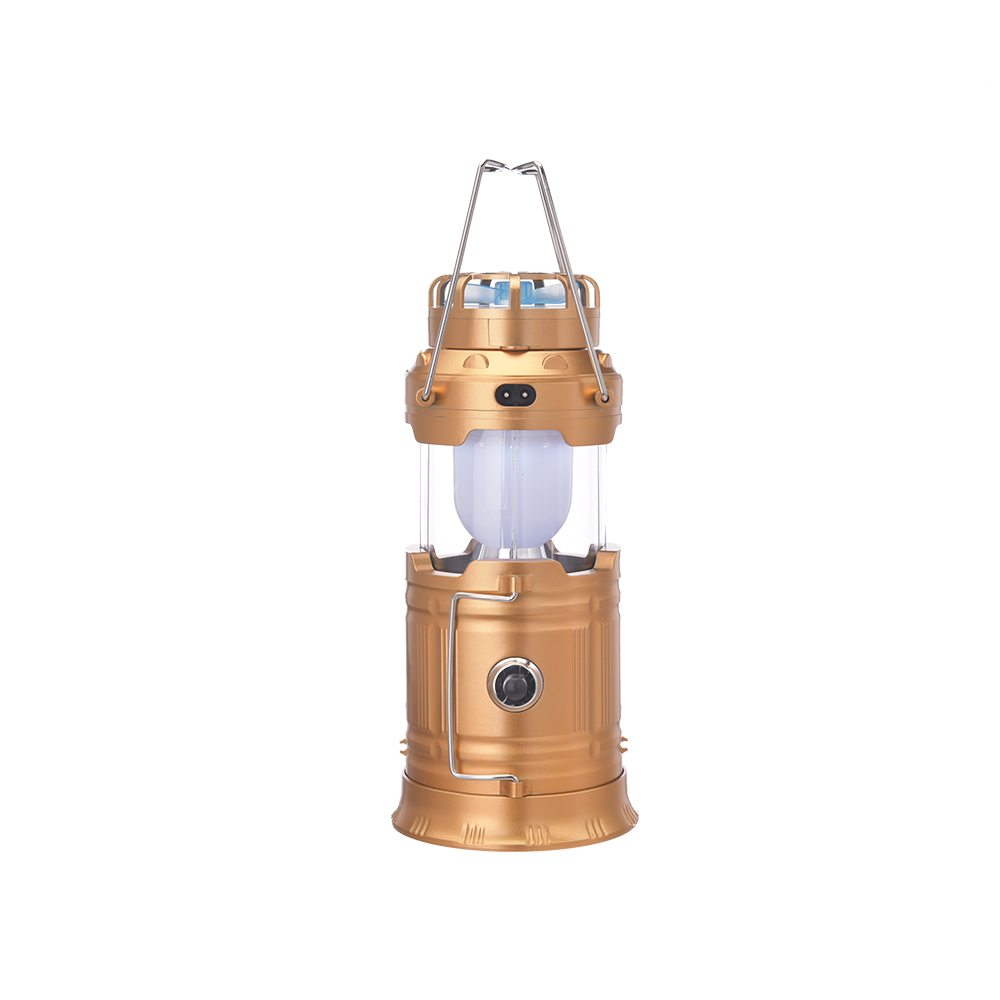 New emergency camping lantern with fan LED solar rechargeable telescopic outdoor tent lamp camping lantern