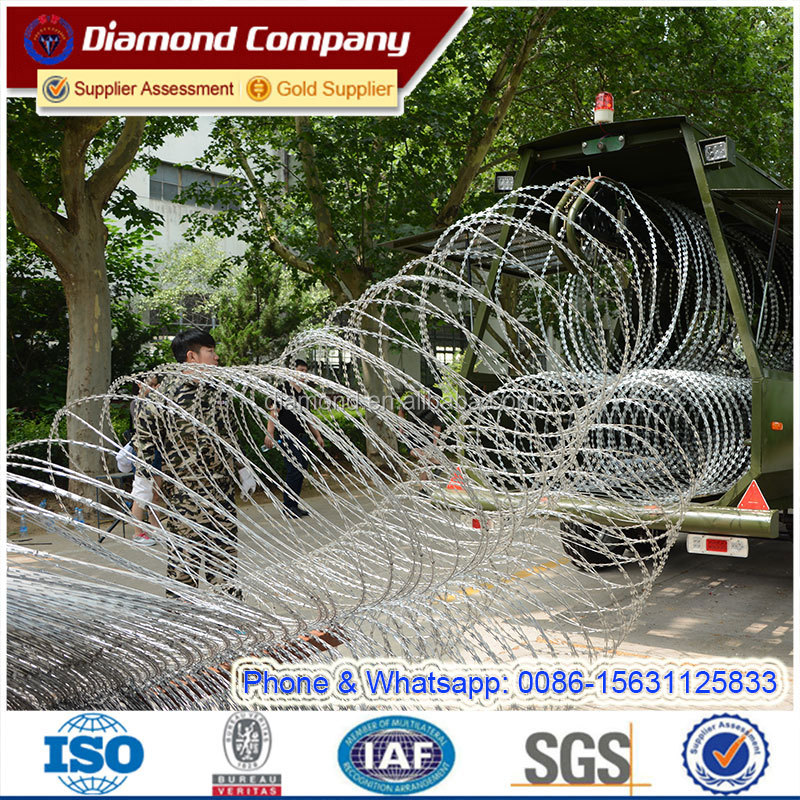 Razor Wire Mobile Security Barrier System/mobile Security Barriers ...