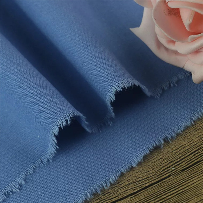 Plain stock cotton  linen fabric for dress and shirt