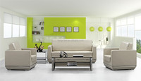 2016 simple design leather office sofa sets furniture with metal frame 1609