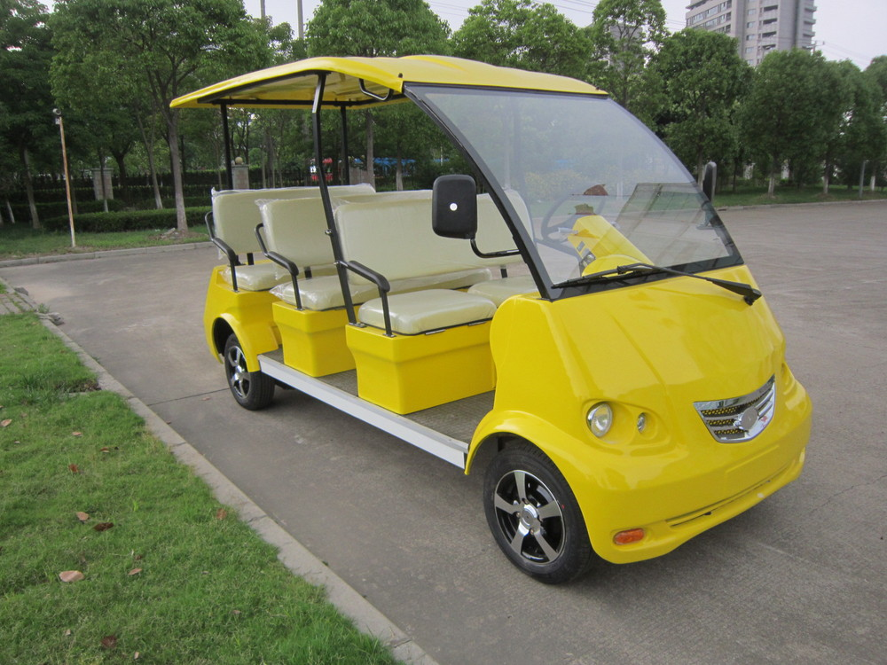 8 Seat Electric Golf Cart Sightseeing Bus Shuttle Bus Used