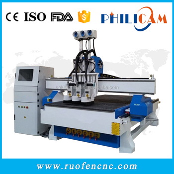 Philicam wood furniture making cnc router atc machine 1325