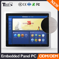 IP66 3mm Seamless Front Panel 15inch Industrial Embedded Capacitive Touch Screen PC with Aluminum Alloy Housing (Black)