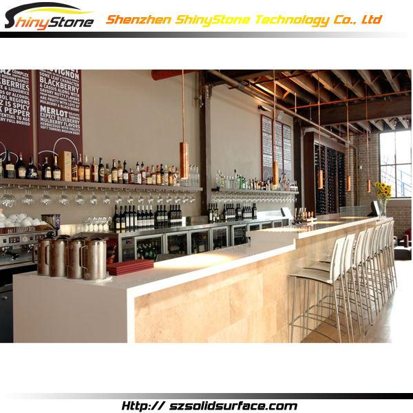linear long shape designer white design solid surface artificiallinear long shape designer white design solid surface artificial marble cafe bar design